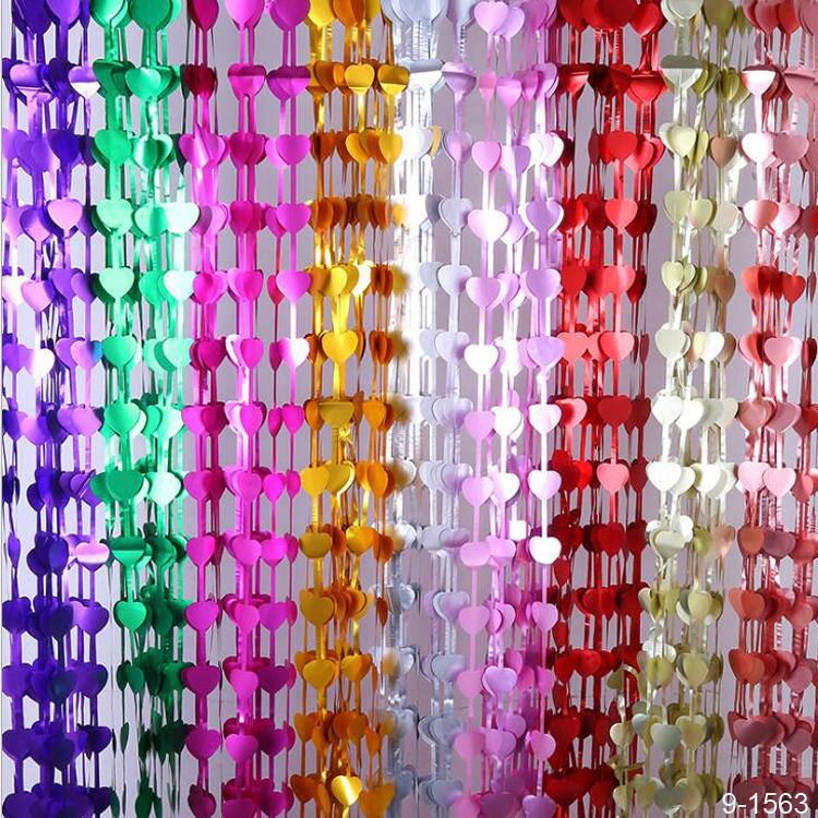 heart metallic foil fringe curtain backdrop photo bachelorette wedding backdrop party decoration buy heart foil curtain for wedding party