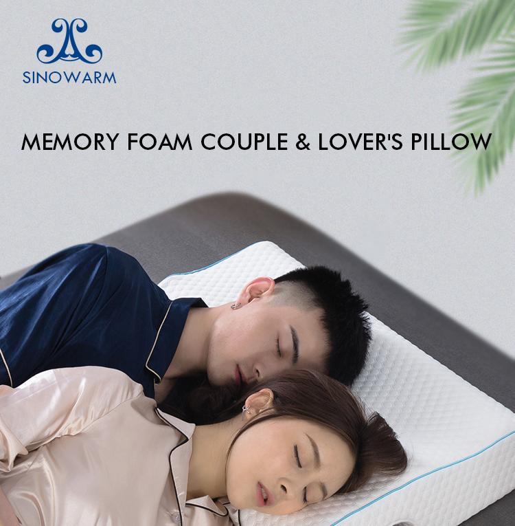 amazon hot manufacture patent designer memory foam manufacture bed pillow arm hole adult suitable for couples arm rest pillow buy couple