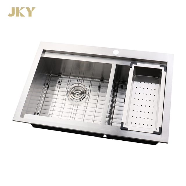 33 inch large 60 40 double bowl drop in stainless steel workstation kitchen sink buy double bowl stainless steel sink top mount stainless steel sink drop in kitchen sink product on alibaba com