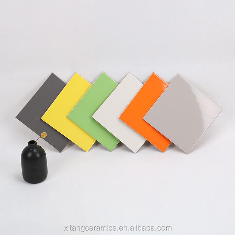 200x200mm 300x300mm modern glossy light ceramic tiles pure color white yellow blue orange green suway kichent bathroom wall tile buy 200x200mm 8x8