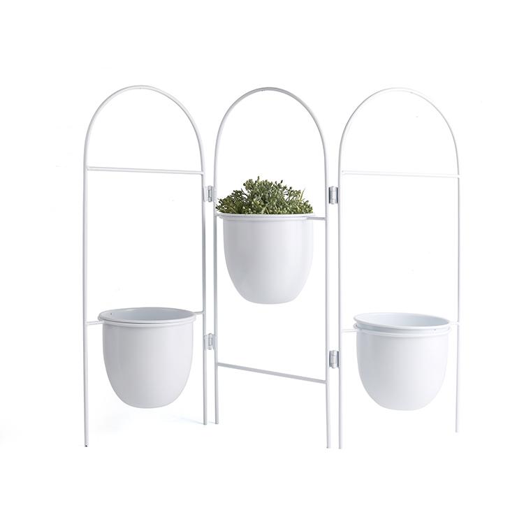 k b small white metal iron standing folding foldable 3 flower plant pot rack holder for home garden buy standing flower pot rack plant pot