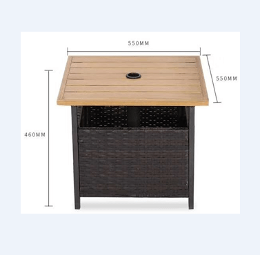 hot selling outdoor wicker patio rattan garden bistro rectangle table with umbrella hole buy wicker basket coffee table cheap bistro tables leisure
