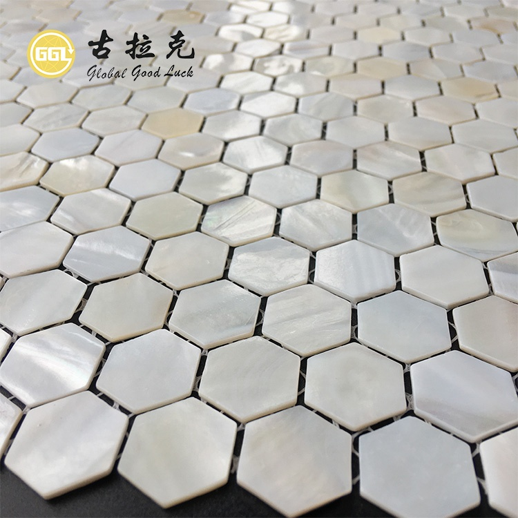 shell hex mosaic tile seashell hexagonal nature pearl hexagon mother of pearl mosaic white interior wall graphic design parquet buy shell hexagon