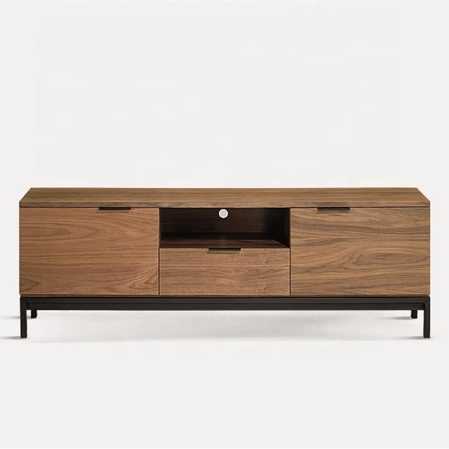 socle tv avec pieds en metal en mdf plaque en noyer 1 piece meuble de salon offre speciale buy nouveau meuble tv moderne photos table tv meuble tv