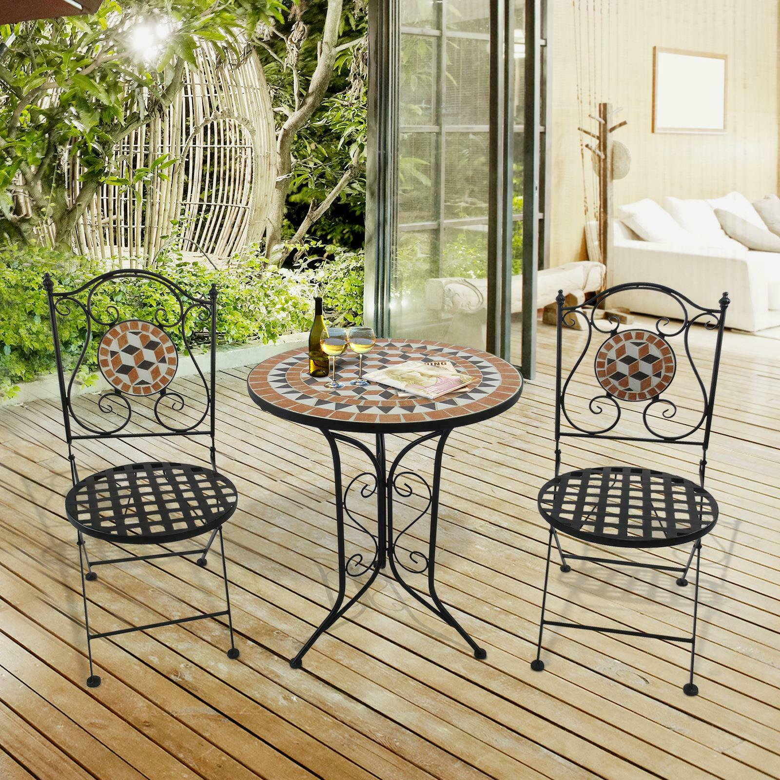 2 seat mosaic stylish garden outdoor bistro patio set table chairs furniture new buy syrian mosaic furniture hexagon patio furniture product on