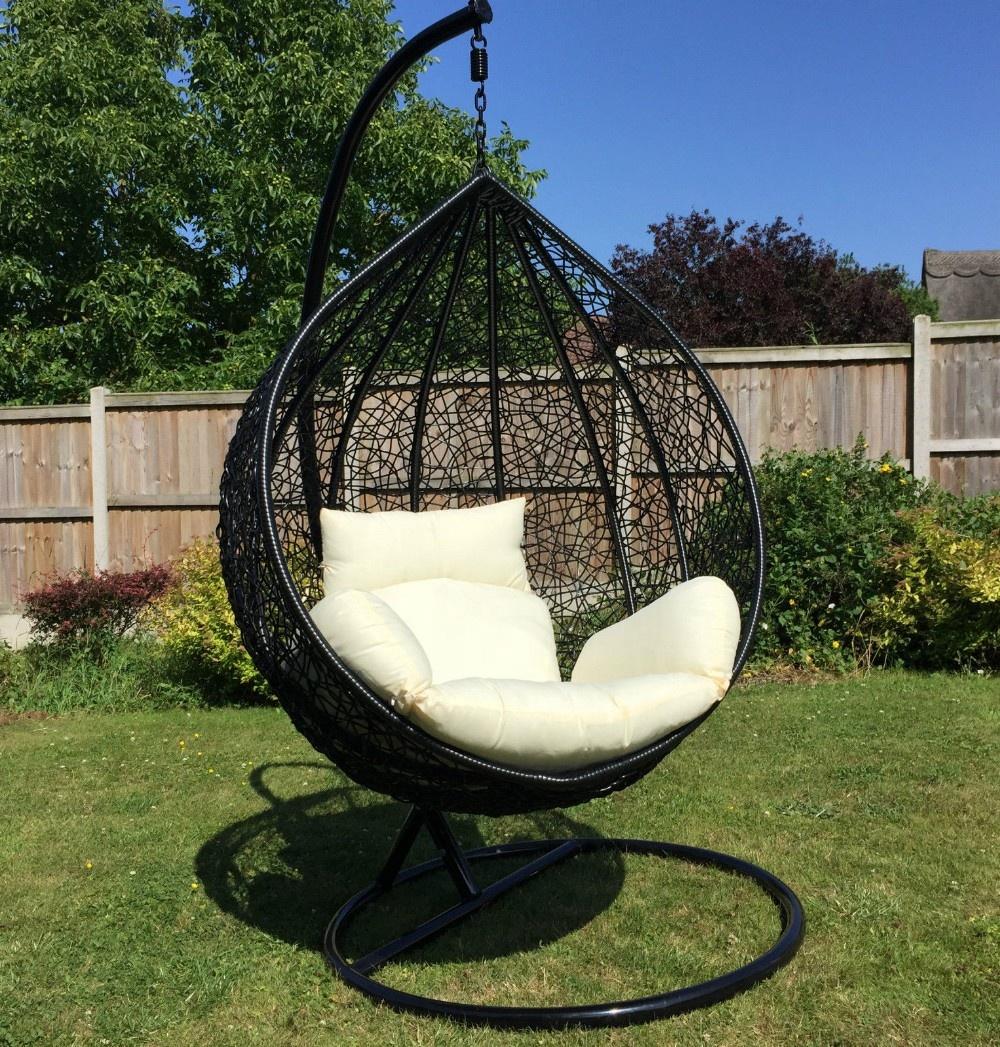 indoor or outdoor black rattan swing chair garden patio furniture buy swing chair garden patio furniture black rattan swing chair product on
