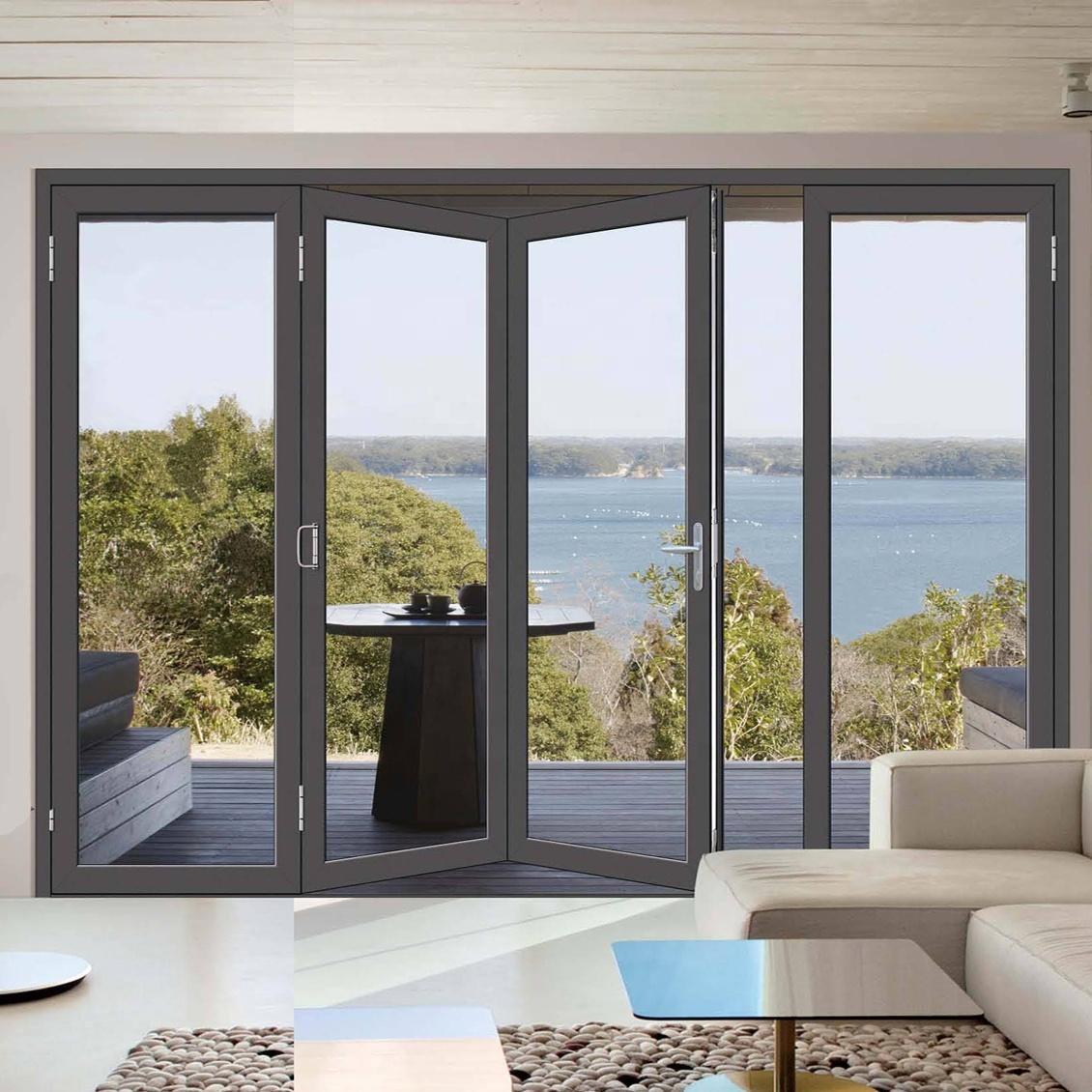 puerta corredera de aluminio de doble acristalamiento puertas plegables para patio exterior de vidrio de aluminio buy aluminium folding door door