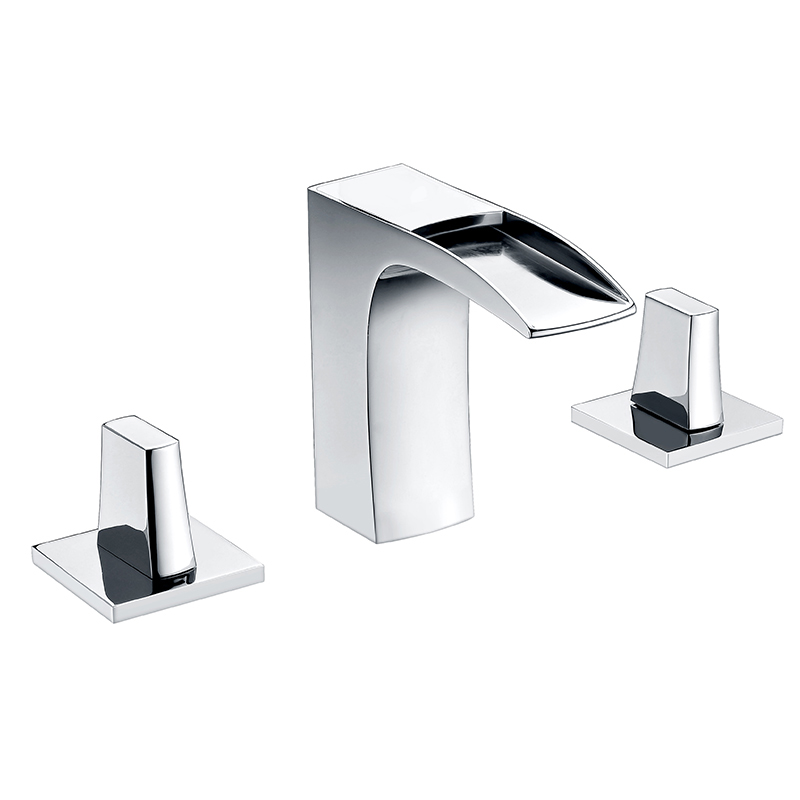 upc standard 3 hole chrome brass waterfall bathroom faucet buy artistic brass faucet parts bathroom faucet waterfall faucet product on alibaba com