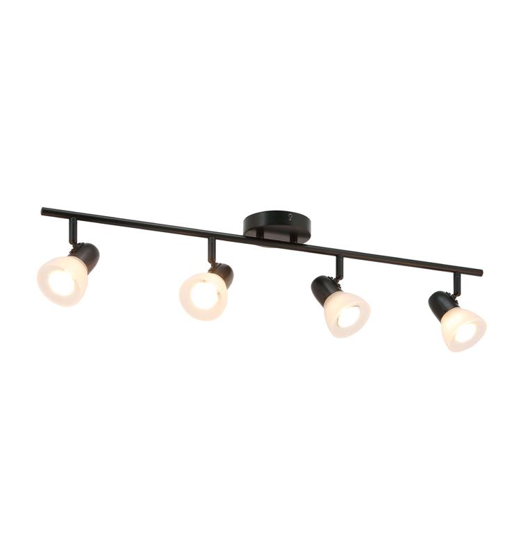 decorative 4 light spotlight ceiling track light fixtures indoor straight matte black kitchen track lighting with glass buy 4 track lighting