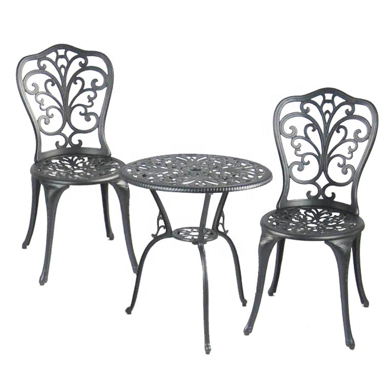 kingjoy garden 1 table with 2 chairs cast aluminum patio furniture buy cast aluminum patio furniture outdoor cast aluminium table and chair used cast iron patio furniture product on alibaba com
