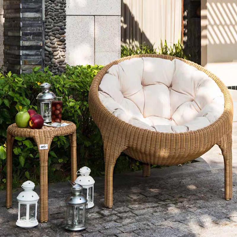 modern european style comfortable patio balcony chaise armchair living room leisure chair outdoor lounge rattan garden chai buy outdoor lounge