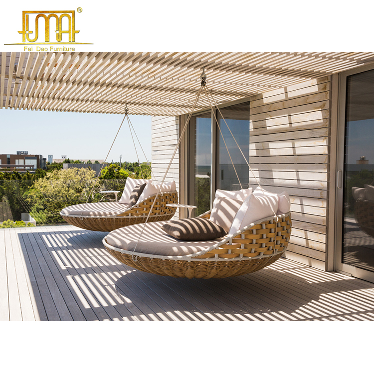hotel outdoor rattan hanging bed patio swing chair wicker furniture porch swing bed buy hanging patio chair patio swing chair wicker furniture porch