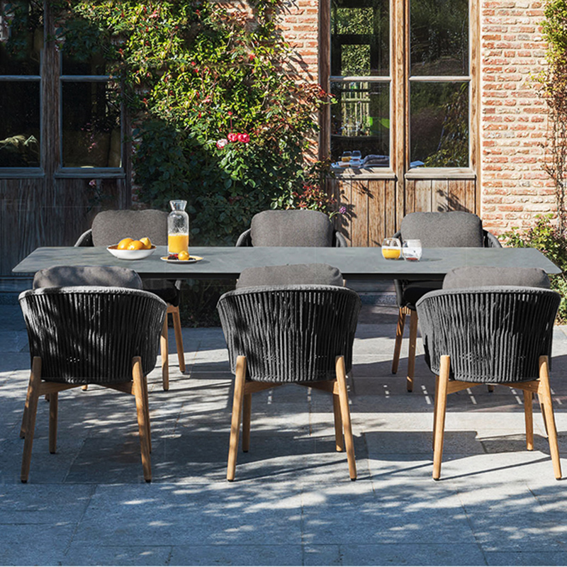 rectangular patio modern black teak solid wood glass furniture hotel resort garden coffee dining pool outdoor table buy outdoor table pool