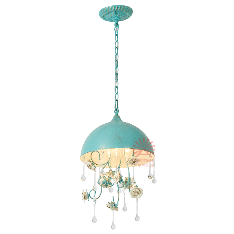 rustic blue small flower crystal teardrop table top chandeliers pendant light for kitchen island buy pendant light for kitchen island rustic pendant