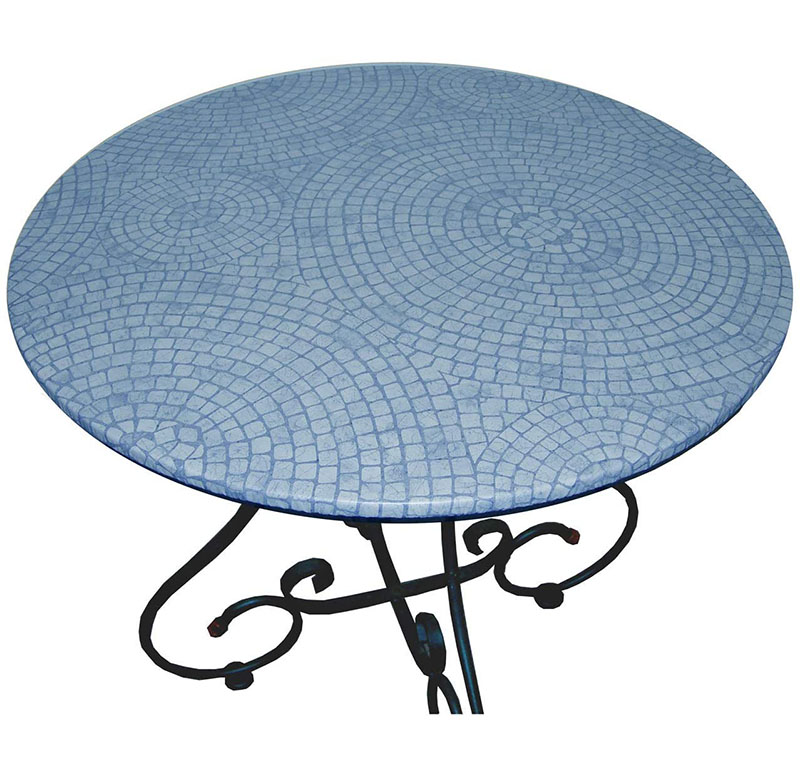 top selling outdoor bistro mosaic table blue small ceramic tile top mosaic round table with iron legs buy fashion mosaic table antique mosaic