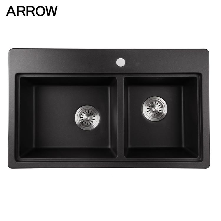 nano black kitchen sink stainless steel custom size undermount double deep bowl sink buy undermount double deep bowl sink nano black double bowl