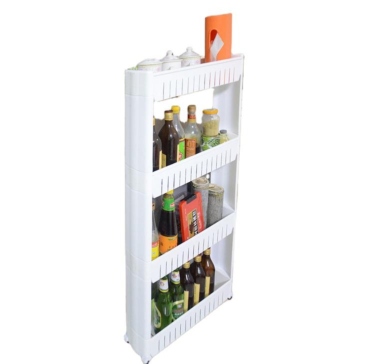 kitchen storage rack fridge side shelf 3 layer removable with wheels bathroom organizer shelf gap holder popular buy spice rack shelf spice