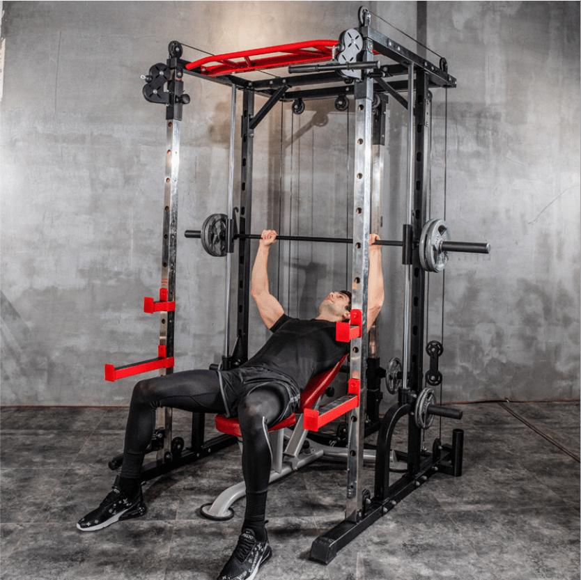 fitness equipment multi functional comprehensive strength training equipment smith squat rack bench press buy power rack smith