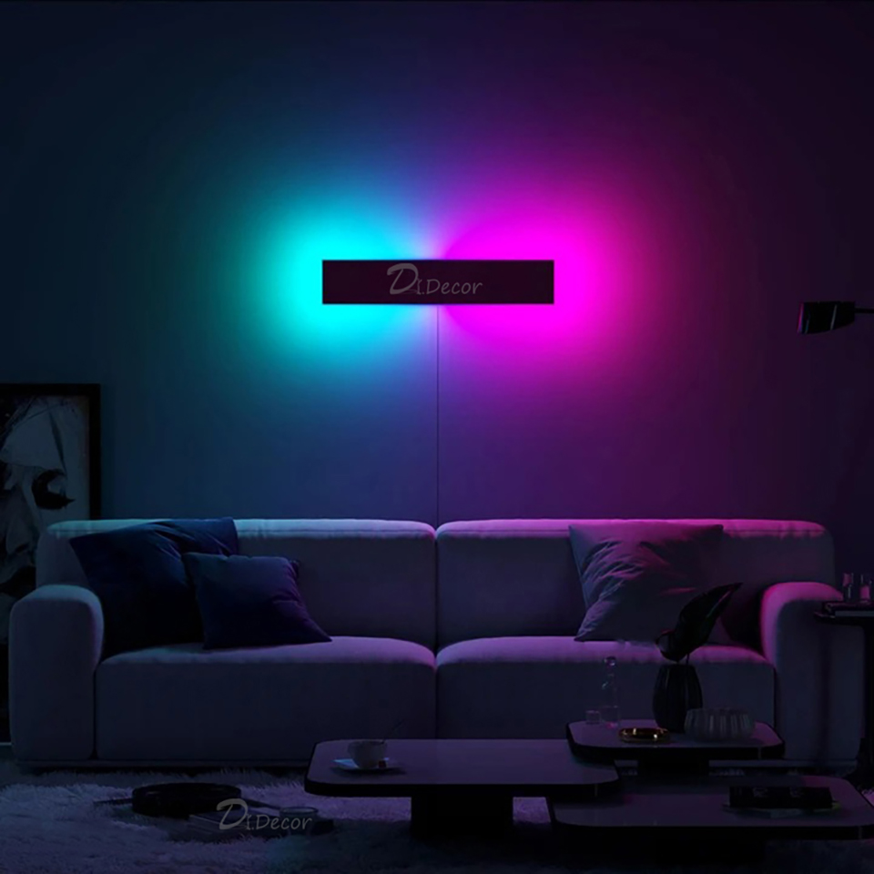 modern rgb lamp led wall lamp living room bedroom bedside nordic colorful wall lights remote control wall sconce light fixtures buy wall light fancy