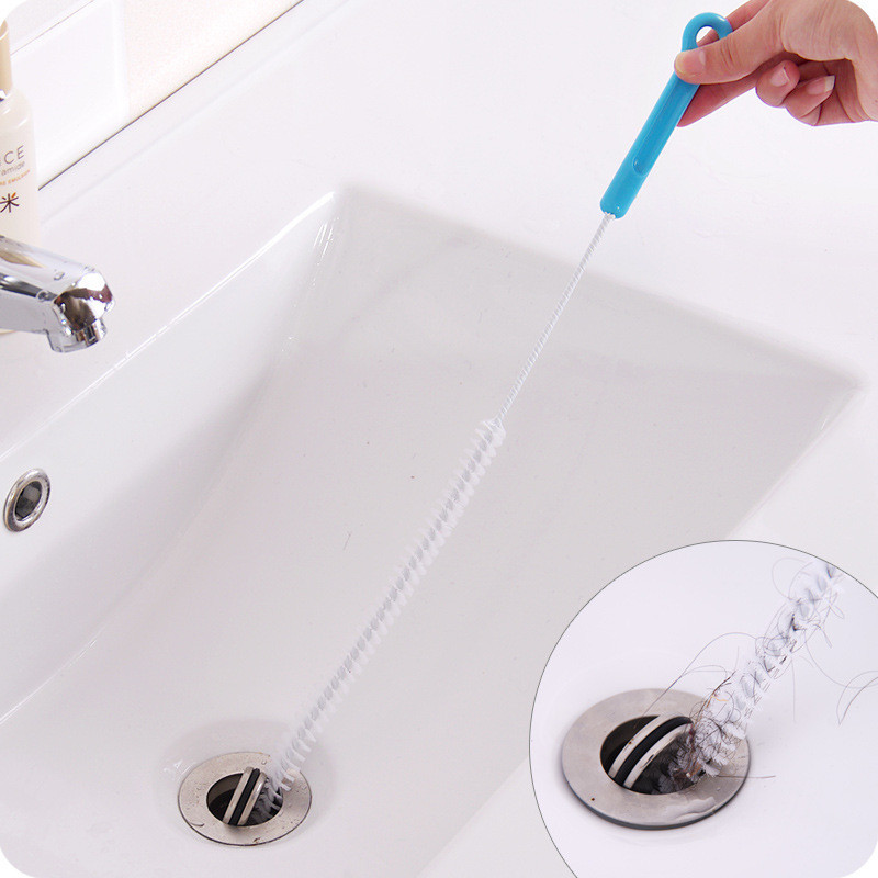 extended sewer cleaning brush pipe dredging tools drain snake kitchen bathroom sink pipe cleaner hair removal tools dredge buy sewer cleaning