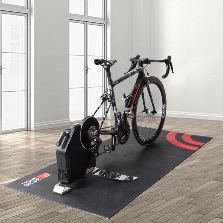 ThinkRider High Density Bicycle Trainer Floor Mat Fitness Folding Sports Exercise Indoor Bike Treadmill Equipment Gym Mats