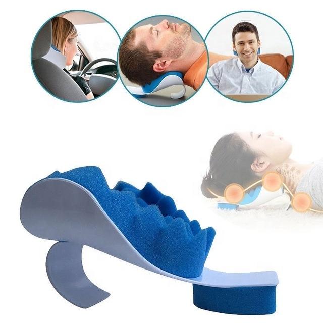 amazon sponge neck shoulder pain relief travel message pillow for cervical spine alignment buy neck message pillow travel pillow travel neck pillow