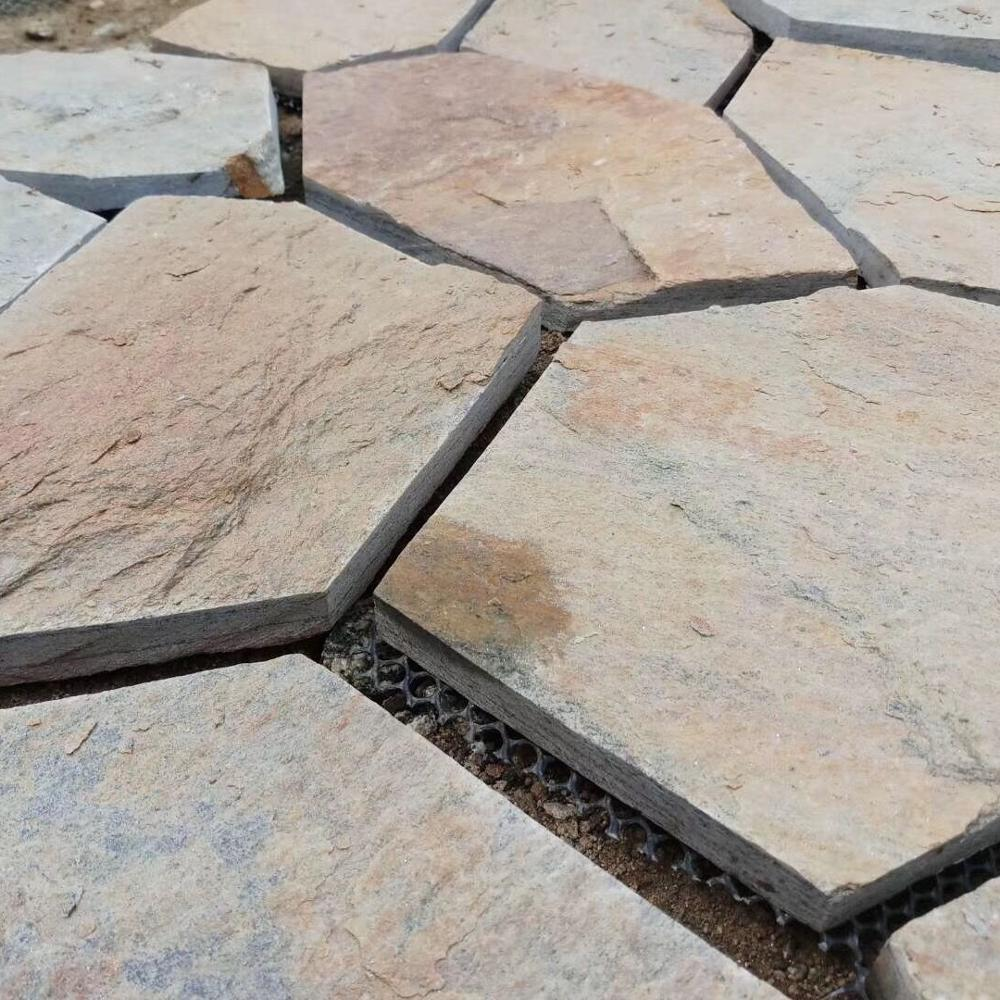 natural rustic slate patio paver landscaping flagstone for floor buy rustic slate patio paver floor flagstone tile landscaping flagstone product on