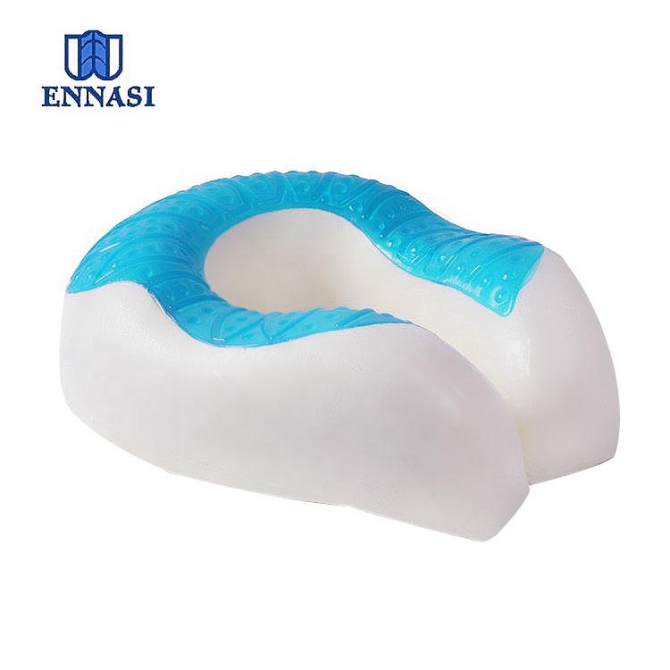 amazon gel cooling neck pillow memory foam pillow visco elastic cord travel gel u shape neck support pillow for summer buy cooling travel neck
