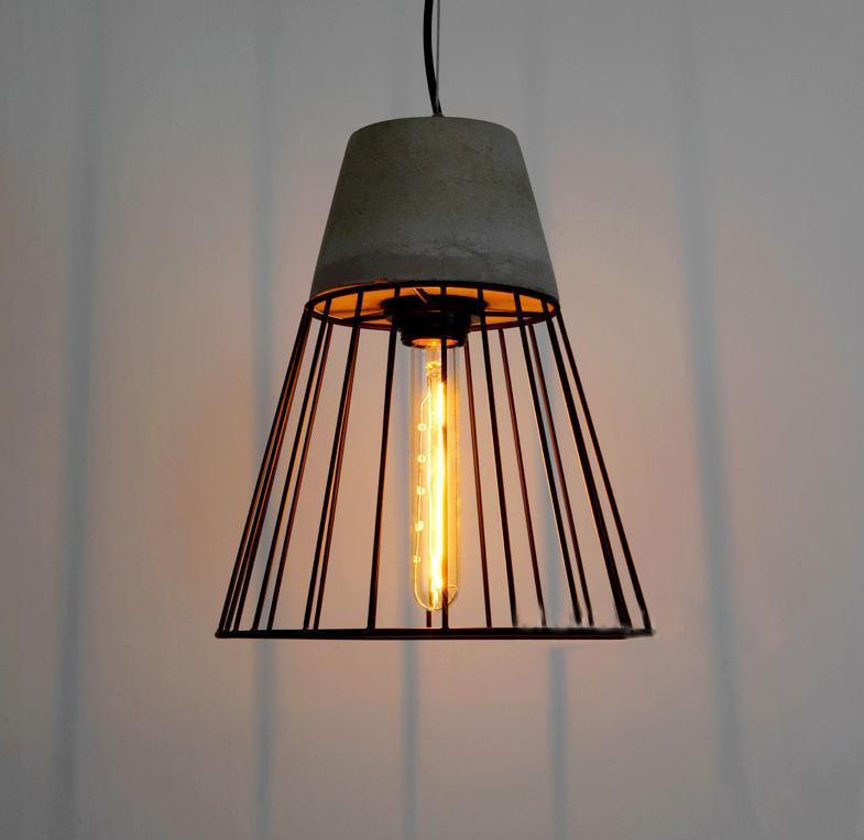 post modern hanging cement pendant lamp contemporary concrete black caged pendant lights wrought iron lighting fixture buy iron pendant lamp cement