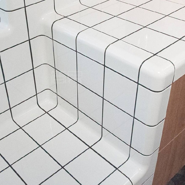 lightweight wall tiles white tile curved ceramic buy curved ceramic tiles white tile product on alibaba com