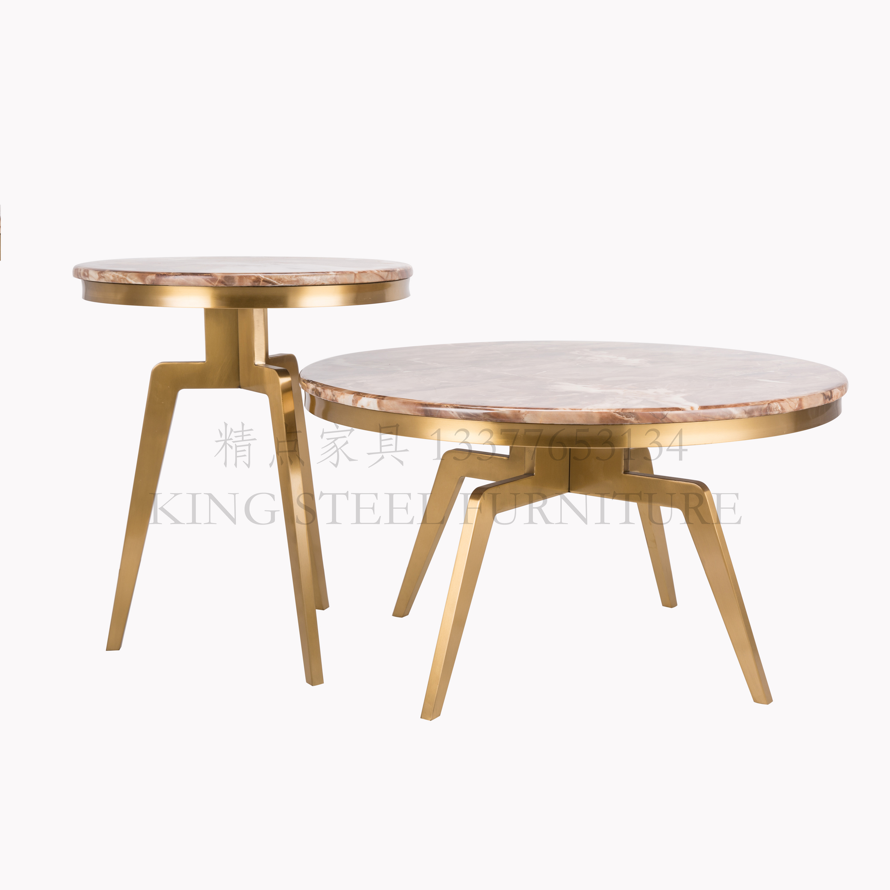 modern gold marble coffee table for living room home round centre tables brown marble top stainless steel furniture buy corner sofa set center table