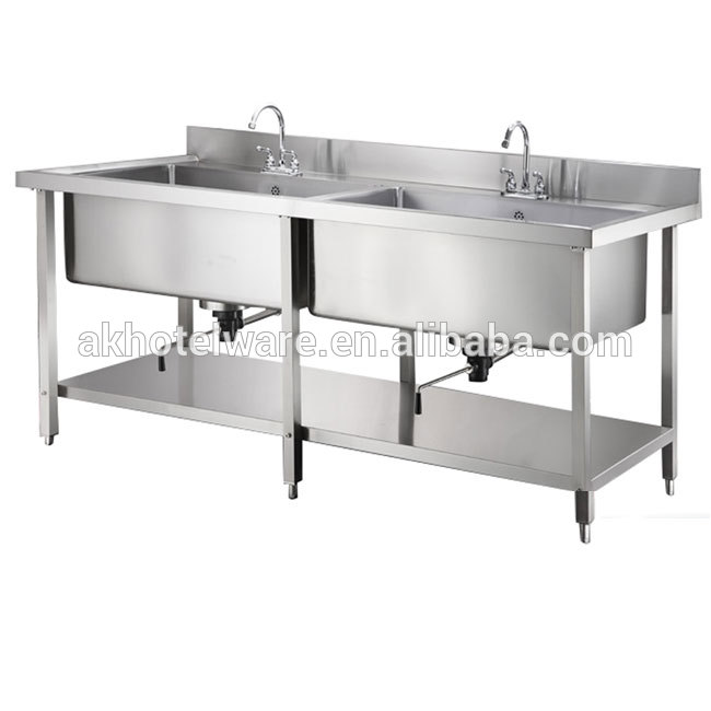 japan kitchen commercial double bowl stainless steel sink stand with drainboard in singapore buy kitchen stainless steel sink work table 201 sri