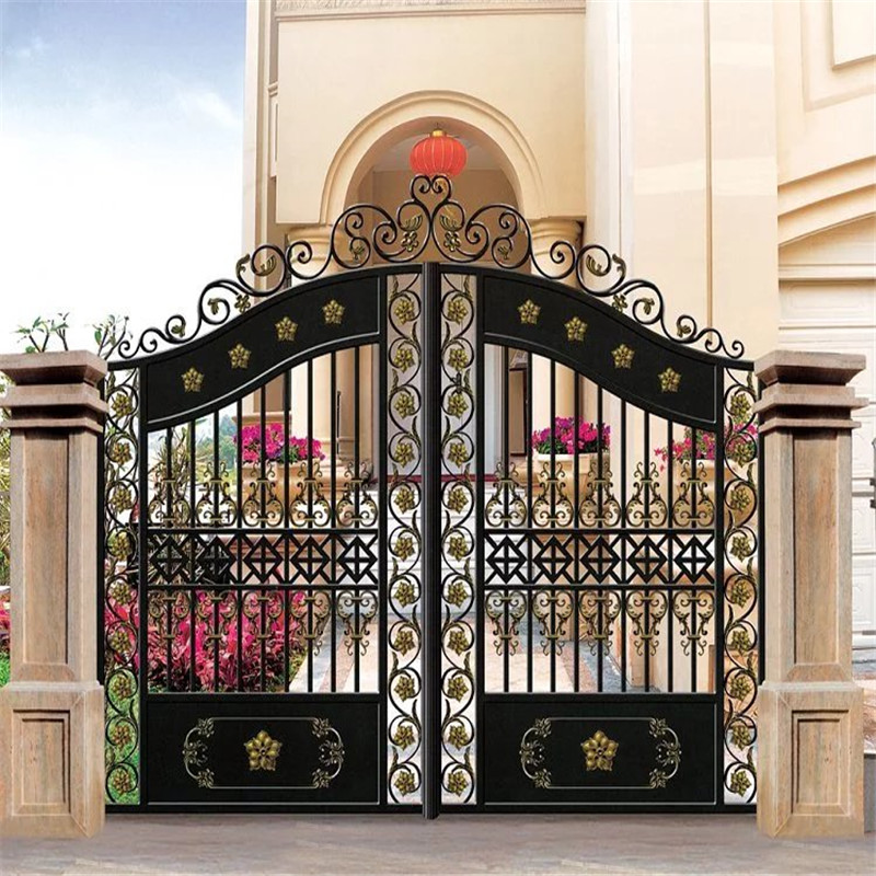 bomei factory grill design wrought iron gate with safety gate patio door for the house buy iron grill door designs wrought iron entrance door gate