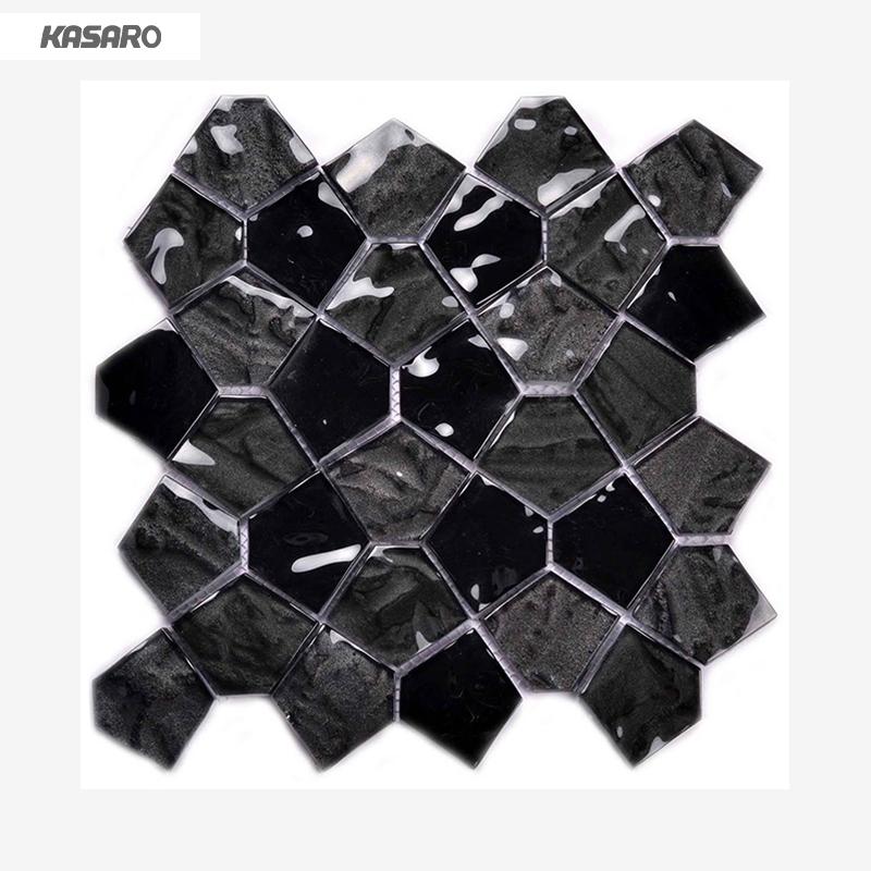 pentagon mosaic tile factory wall tile mosaic black glass mosaic buy black glass mosaic pentagon mosaic tile factory wall tile mosaic product on