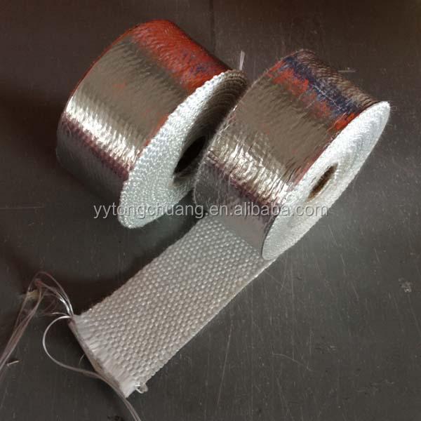 fiberglass exhaust heat wrap covered with aluminium foil buy reinforced aluminum foil tape heat resistant fiberglass aluminum foil tape fiberglass