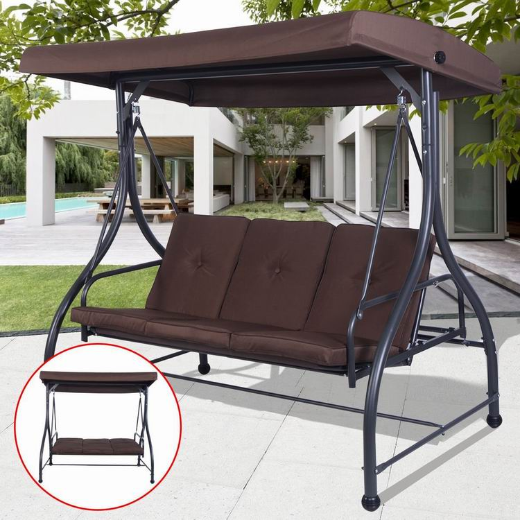 patio outdoor garden large patio swing with canopy with roof for outdoor buy patio swing with canopy swing with canopy swing with roof product on