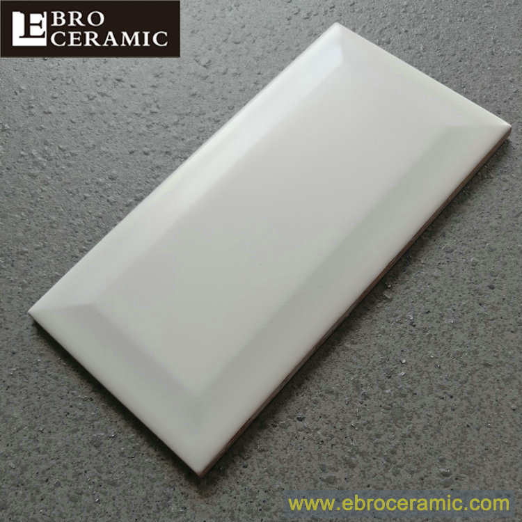 matte finished white ceramic bevel edge subway wall and floor tile 75x150mm 100x100mm 100x300mm buy ceramic subway tile ceramic wall tile wall tile