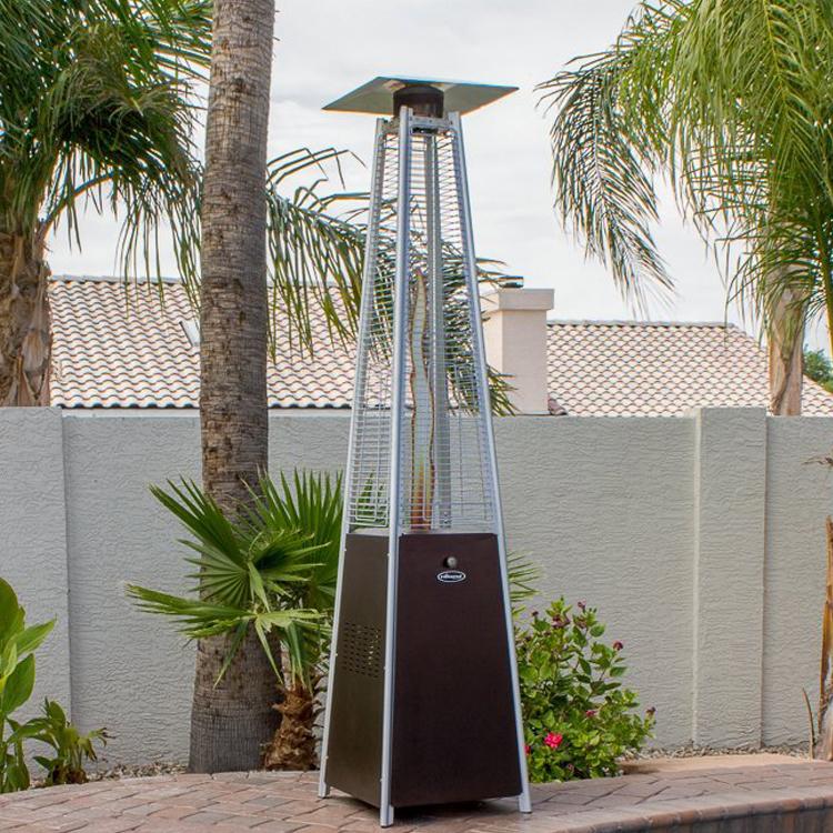 chauffage d exterieur intelligent gris argent pour patio en alliage d aluminium bon prix buy chauffage exterieur hiland chauffe terrasse