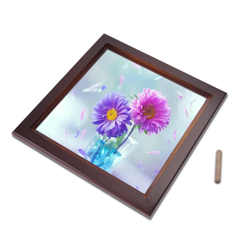 wholesale good sublimation blank wood tiles frame heat press printing wood wall tiles frame buy wood frames for canvas prints wood carving