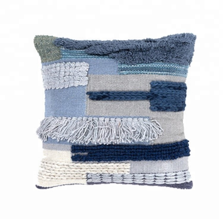 india style geometric spliced tufted wool hand woven cushion cover pillow cover buy wool hand woven cushion spliced cushion cover india style