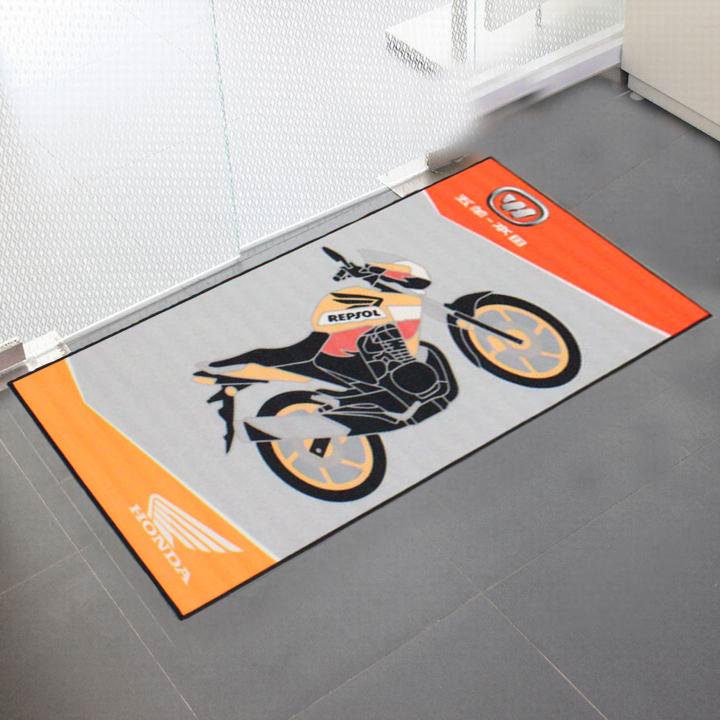 tapis de moto personnalise avec logo imprime tapis de sol pour garage atelier motocyclette personnalise buy tapis d atelier de garage de moto tapis