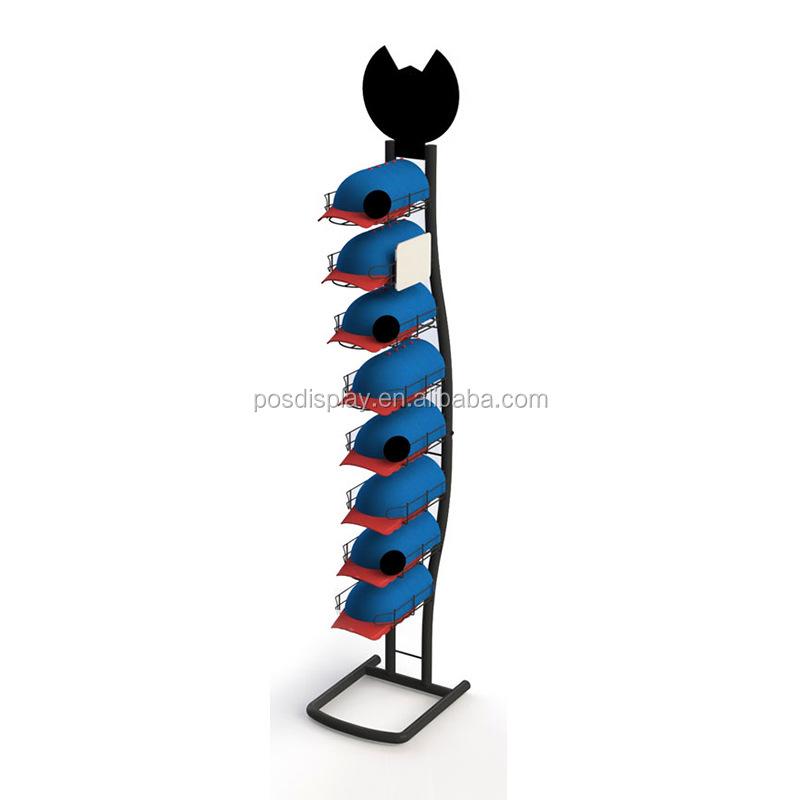 baseball cap display rack and shelf hat stand display for retail store buy hat display rack metal hat display rack baseball cap display rack product