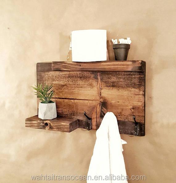 bathroom towel holder shelf wood organizer rustic modern farmhouse decor bathroom towel storage organizer 2019 buy makeup storage organizer rustic