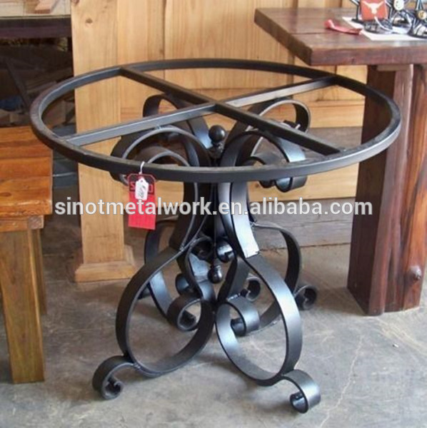 small metal coffee table base for glass and stone pedestal wrought iron table base buy table bases for glass tables wrought iron coffee table