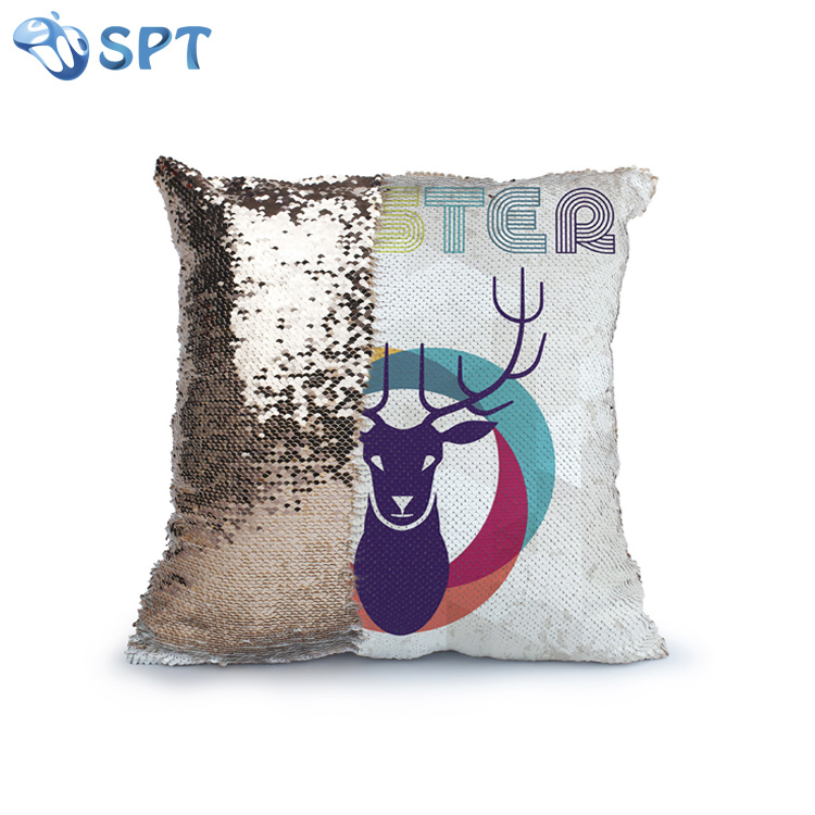 sublimation custom magic mermaid pillow case reversible sequin glitter sofa cushion cover with your logo or photo sequin pillow buy sublimation sequins pillow cover blank sublimation pillow cushion sublimation printed pillow cover product