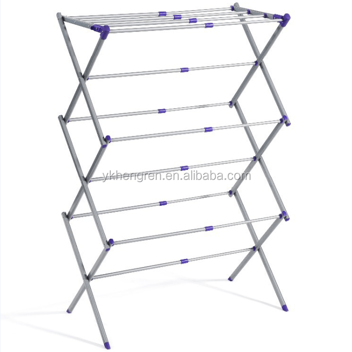 foldable clothes drying rack folding clothes drying rack clothes dryer for laundry garment rack buy 3 layer dryer rack garment rack clothes drying