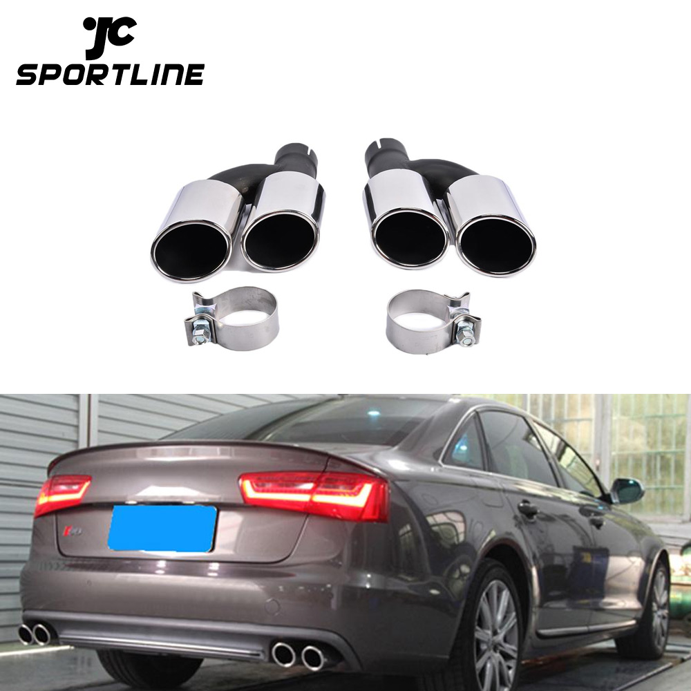 304 steel oval s6 car exhaust tips quad pipes for audi a6 c7 13 14 buy s6 car exhaust tips a6 car exhaust tips car exhaust tips for audi product on
