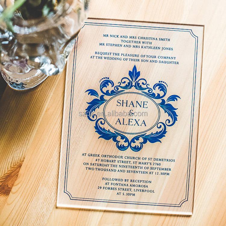 hot selling elegant glass acrylic wedding invitation card buy acrylic wedding invitation card glass acrylic wedding invitation card elegant glass