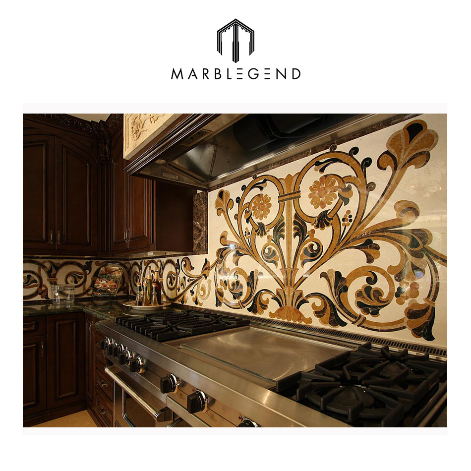 customized chic waterjet marble wall design kitchen backsplash tile for sale buy backsplash tile kitchen backsplash tile kitchen backsplash product on alibaba com