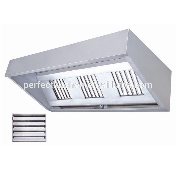 stainless steel commercial kitchen extractor hood restaurant range cooker hood view kitchen hood perfect product details from guangzhou perfect